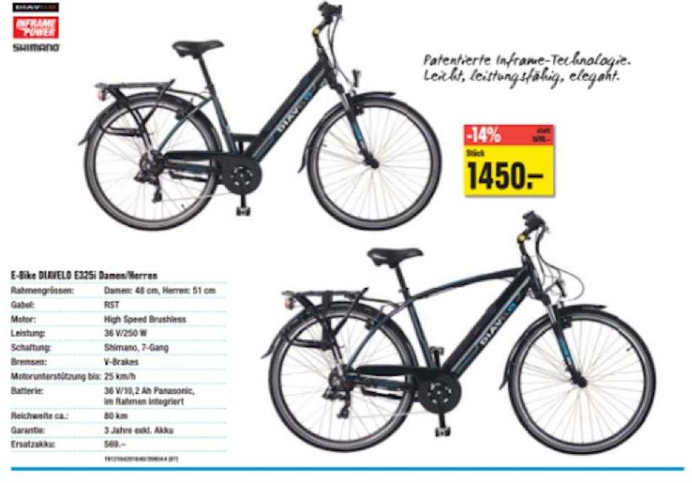 e bike kaufen e bike diavelo e325i occasion f r chf 1000. Black Bedroom Furniture Sets. Home Design Ideas